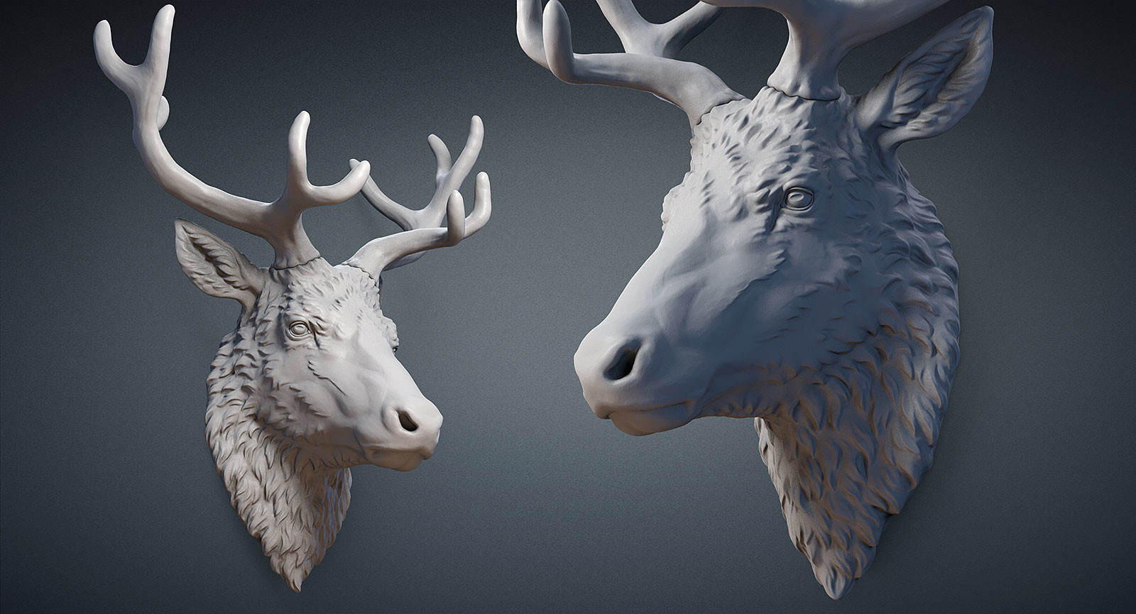 How To Decorate Your Home For Christmas Nikolay Vorobyov Reindeer Head 3d Print Digital Sculpture