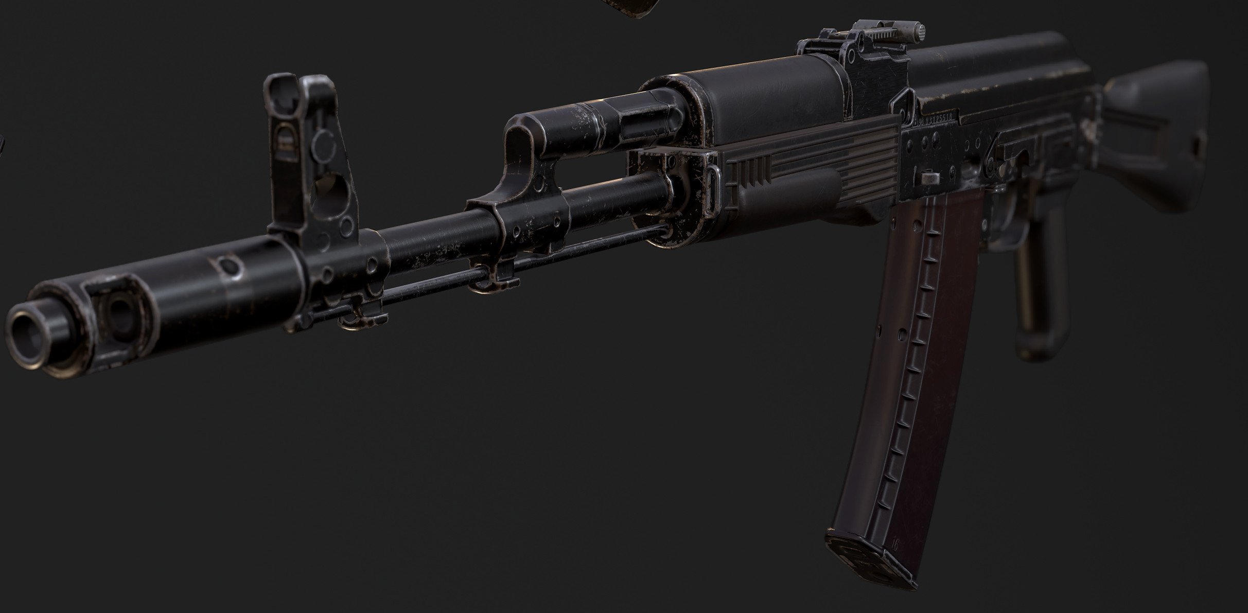 AK47. Real-time. Unity3D. Close-up