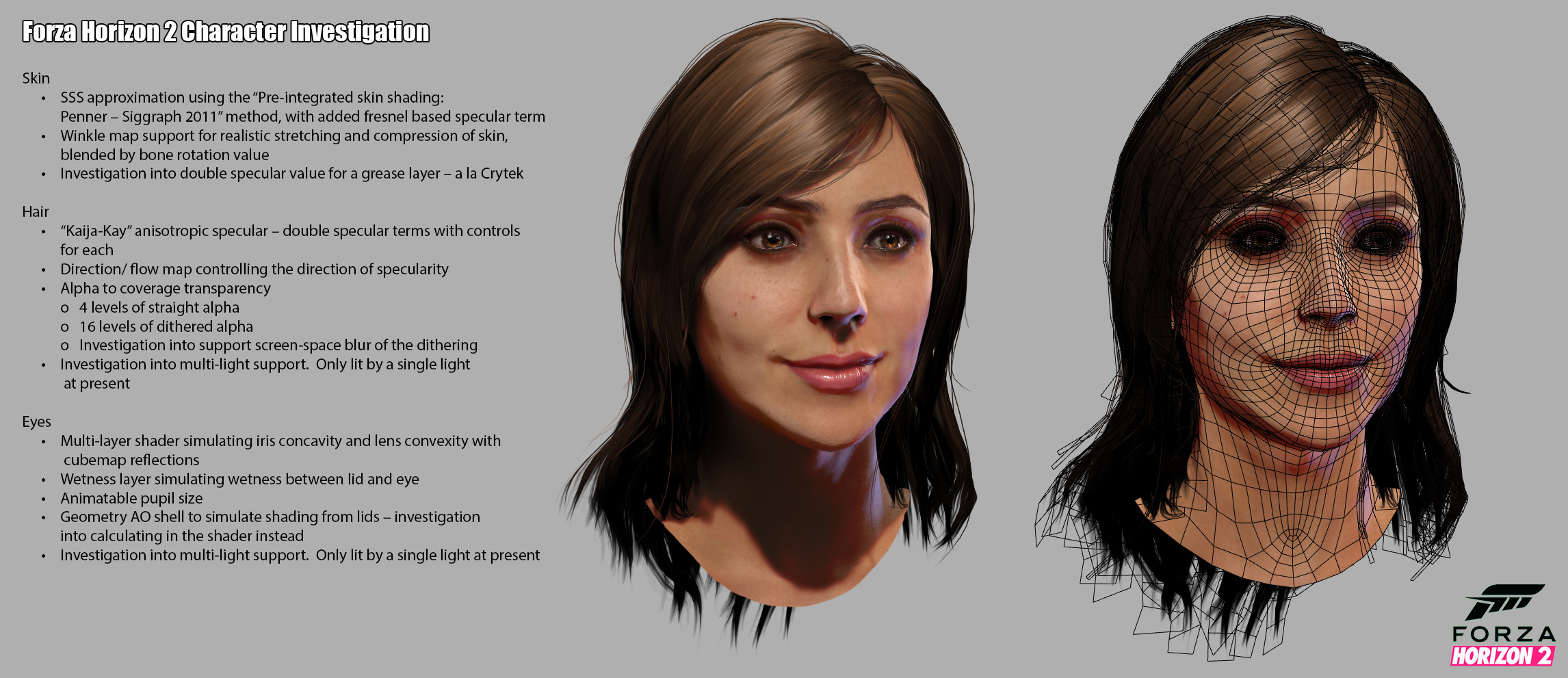 Forza Horizon 2 - Character Investigations