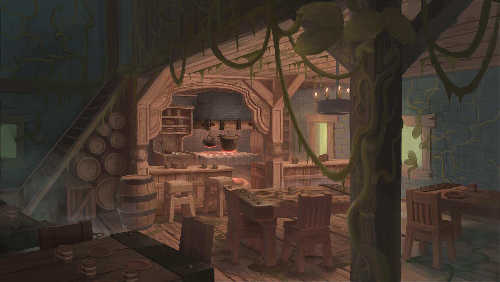 Overgrown Tavern