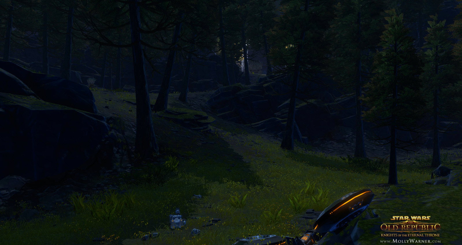 The forest around the player's ship is untouched by the Zakuulian forces