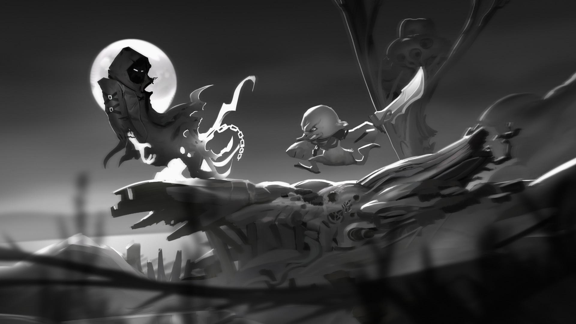 Artstation Angry Ducky Concept Art Grayscale Zlatka Suboticanec