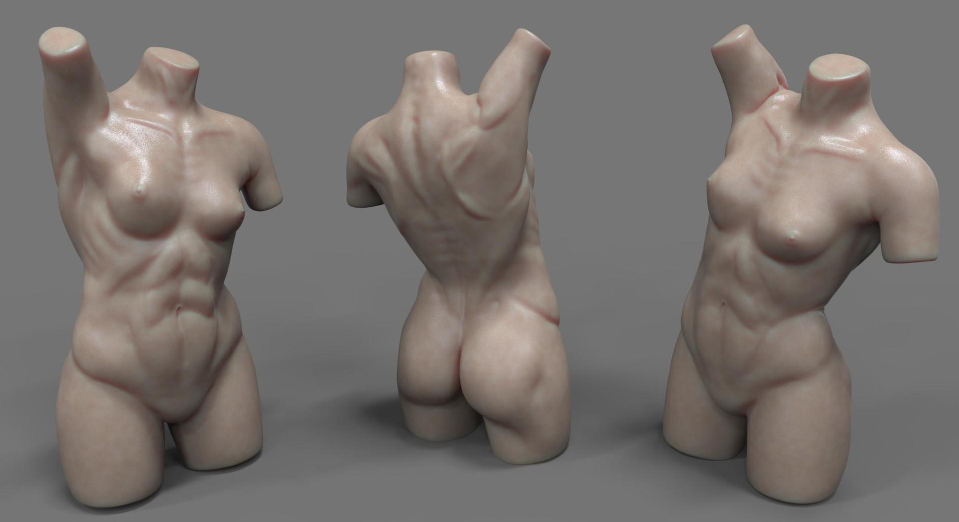 ArtStation - Female Anatomy Study, Moritz Schneider