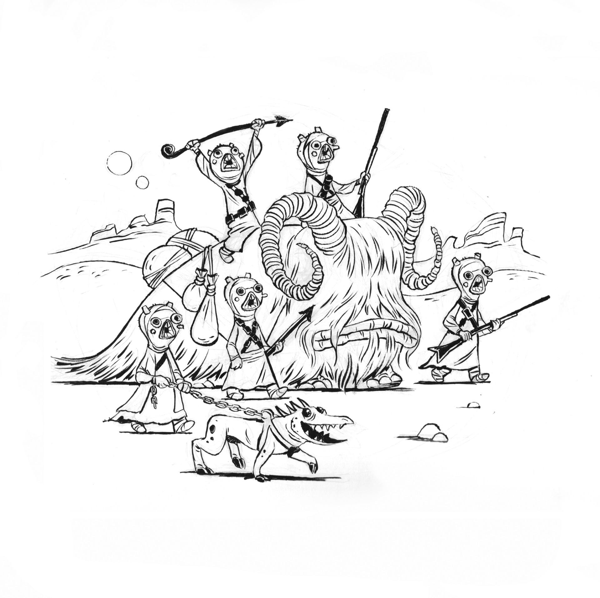 Tusken Raiders sketch