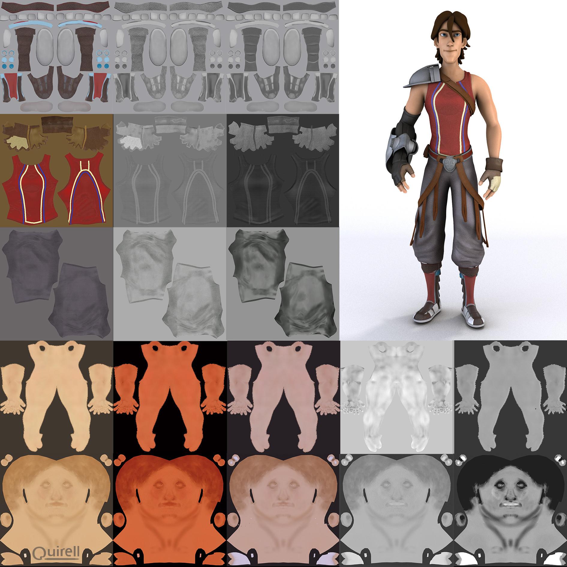 Veronica quirell dar character cartton 2016 texturas cuerpo