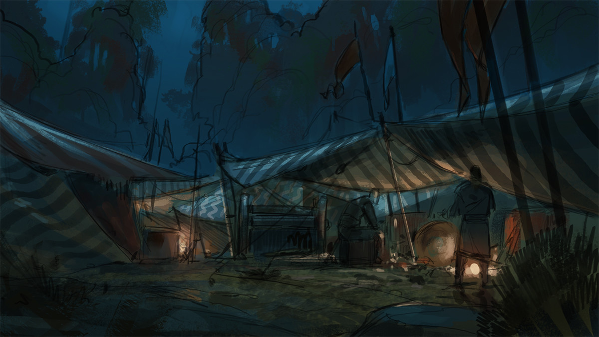 Klaus pillon camp night sketch 001