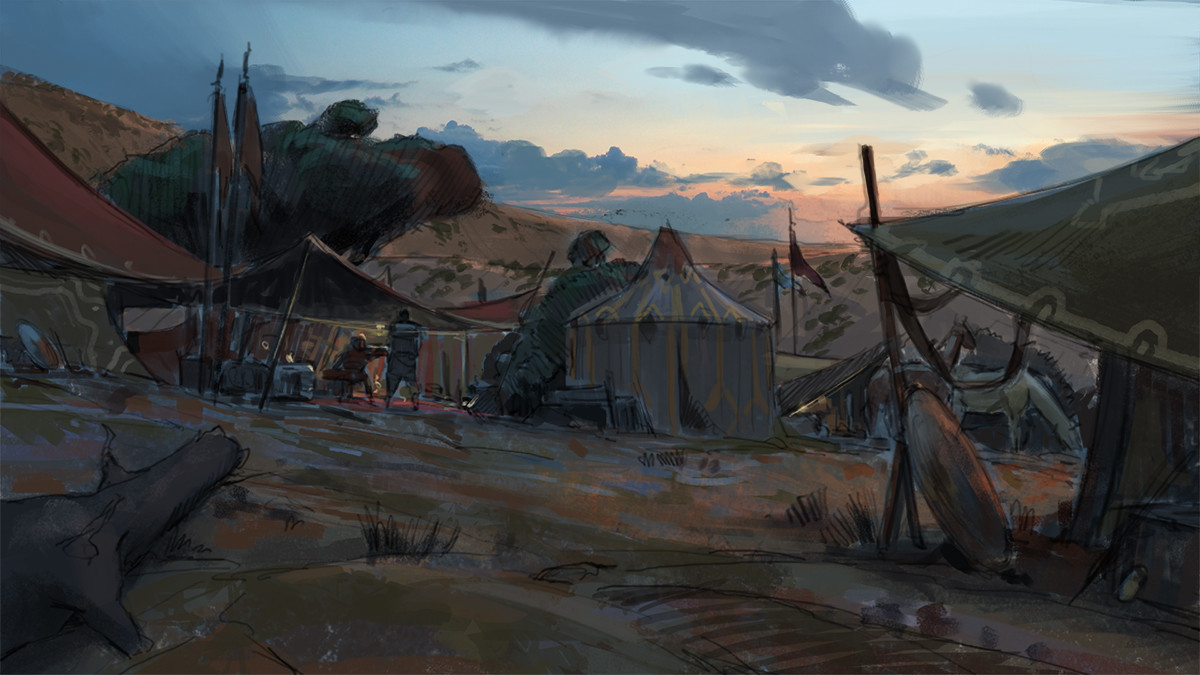 Klaus pillon camp dusk savannah sketch 002