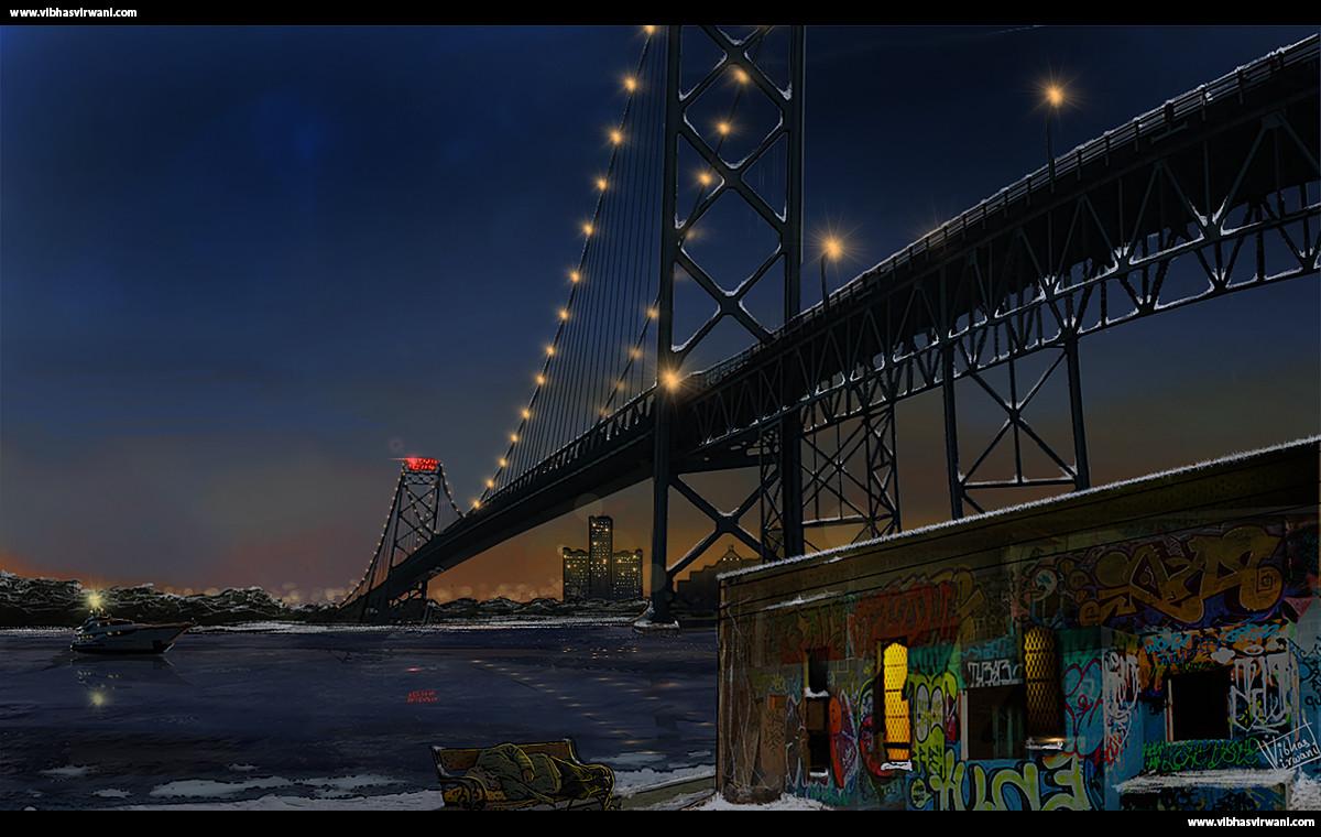night time scene