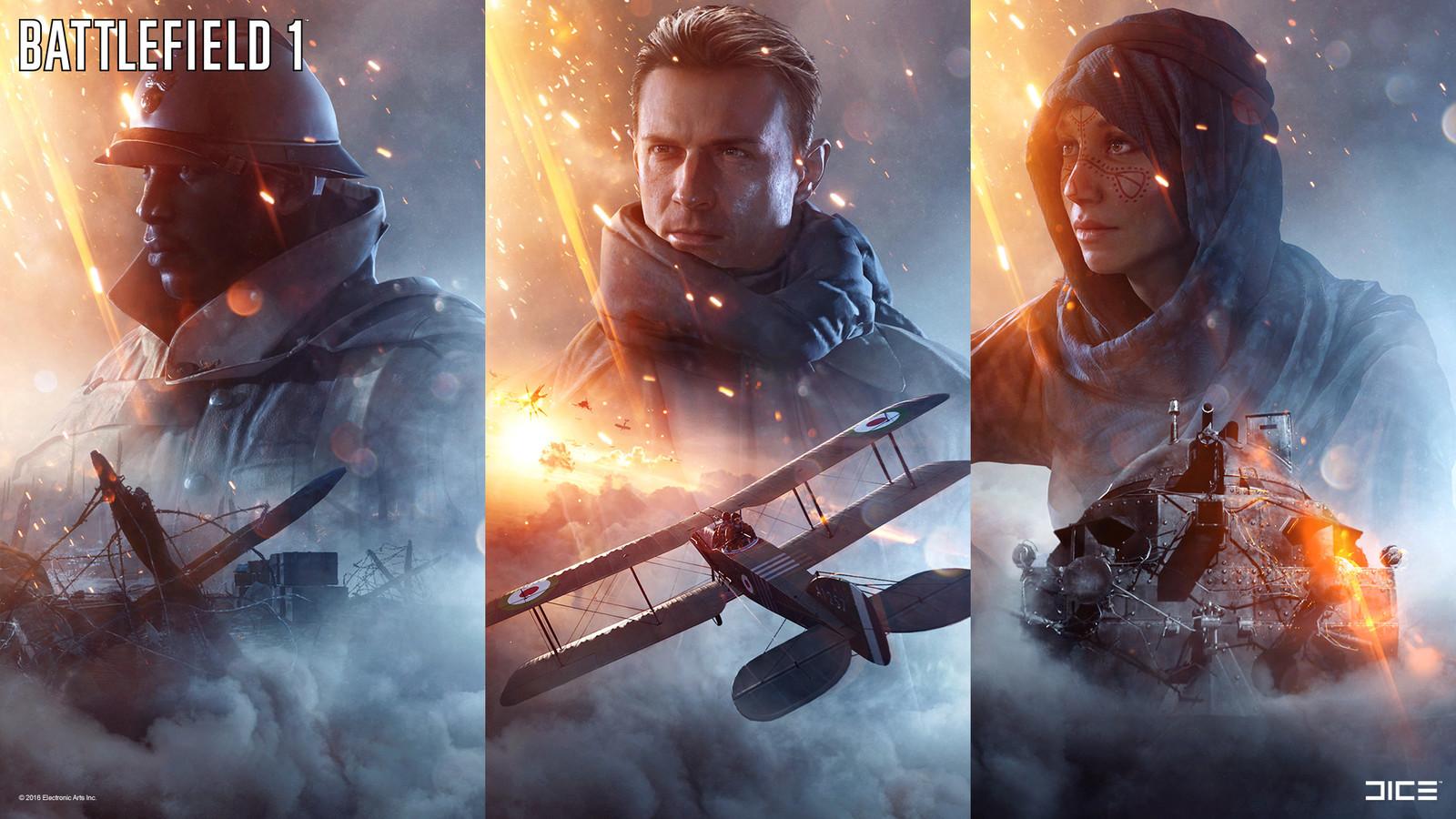 """Battlefield 1"" - War Stories Key Art - 01 / Collaboration with Robert Sammelin & the DICE Character team"