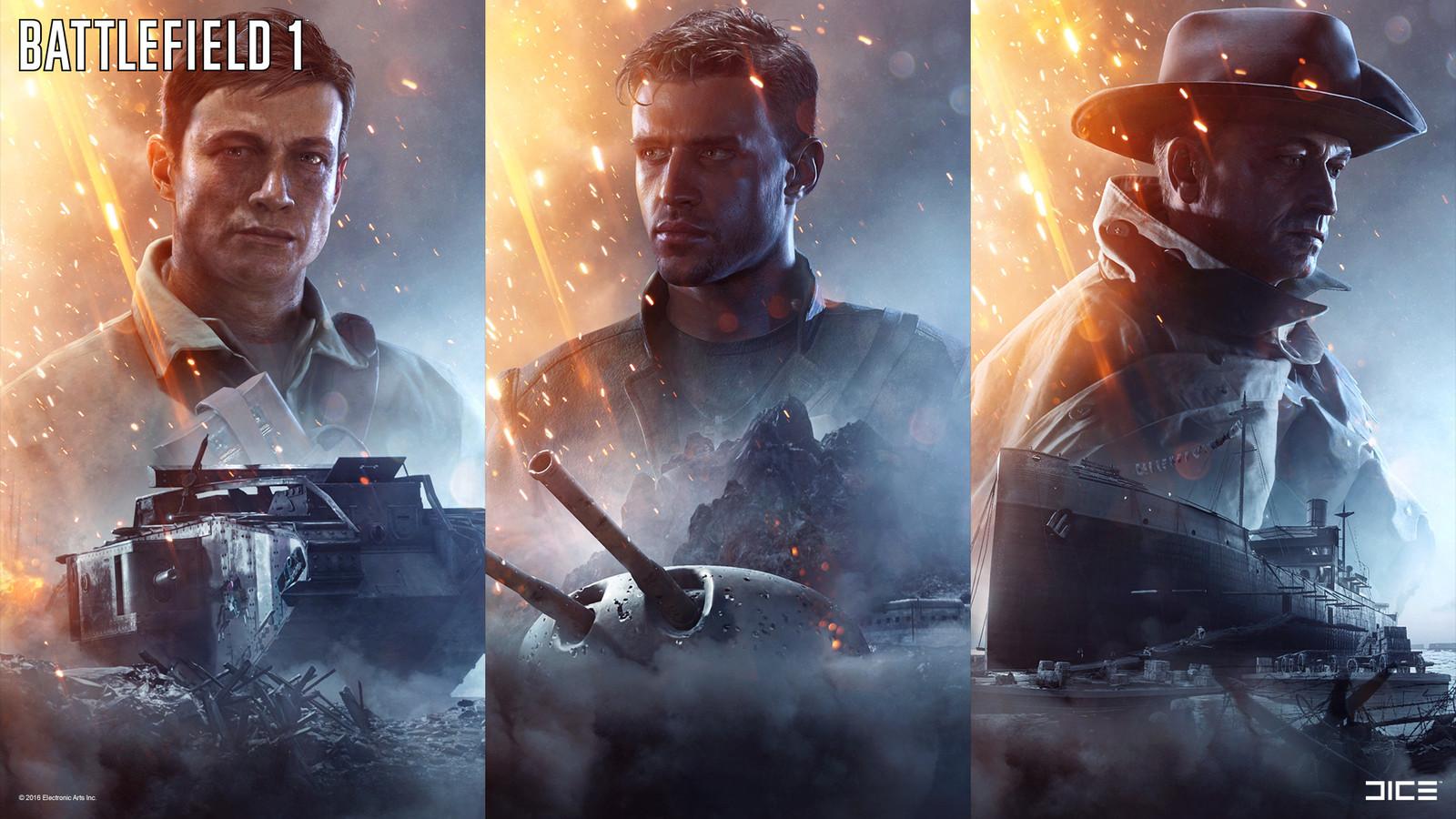 """Battlefield 1"" - War Stories Key Art - 02 / Collaboration with Robert Sammelin & the DICE Character team"