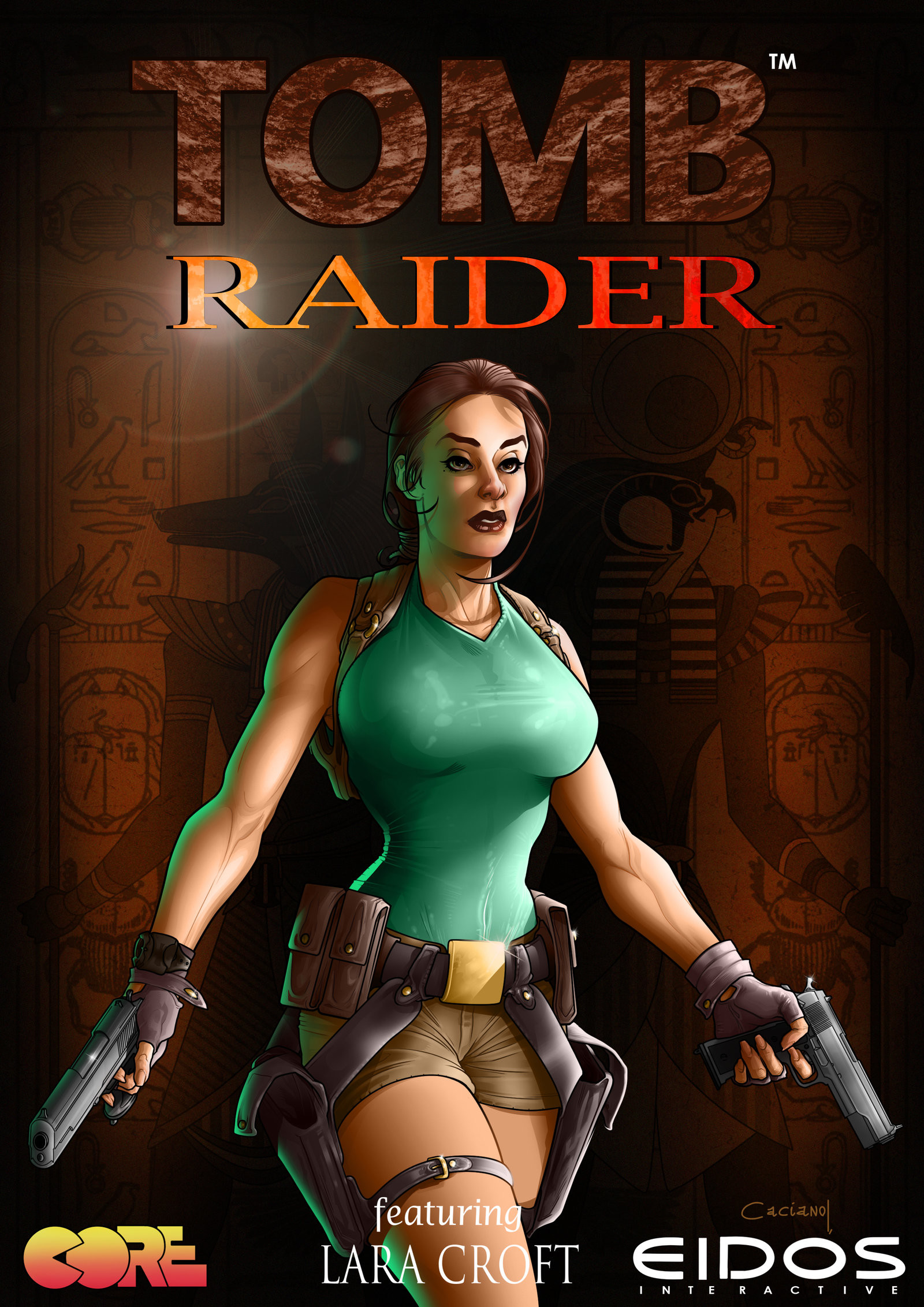 Artstation Tomb Raider Classic Caciano Alison