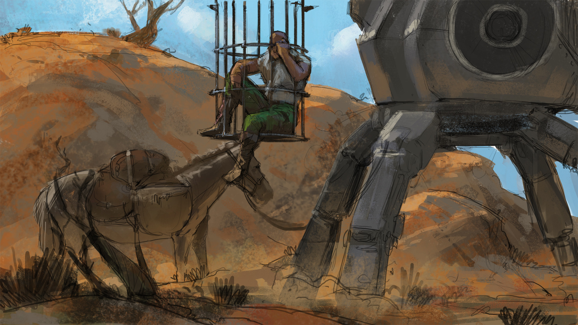 Klaus pillon cage mech imgar sketch 01