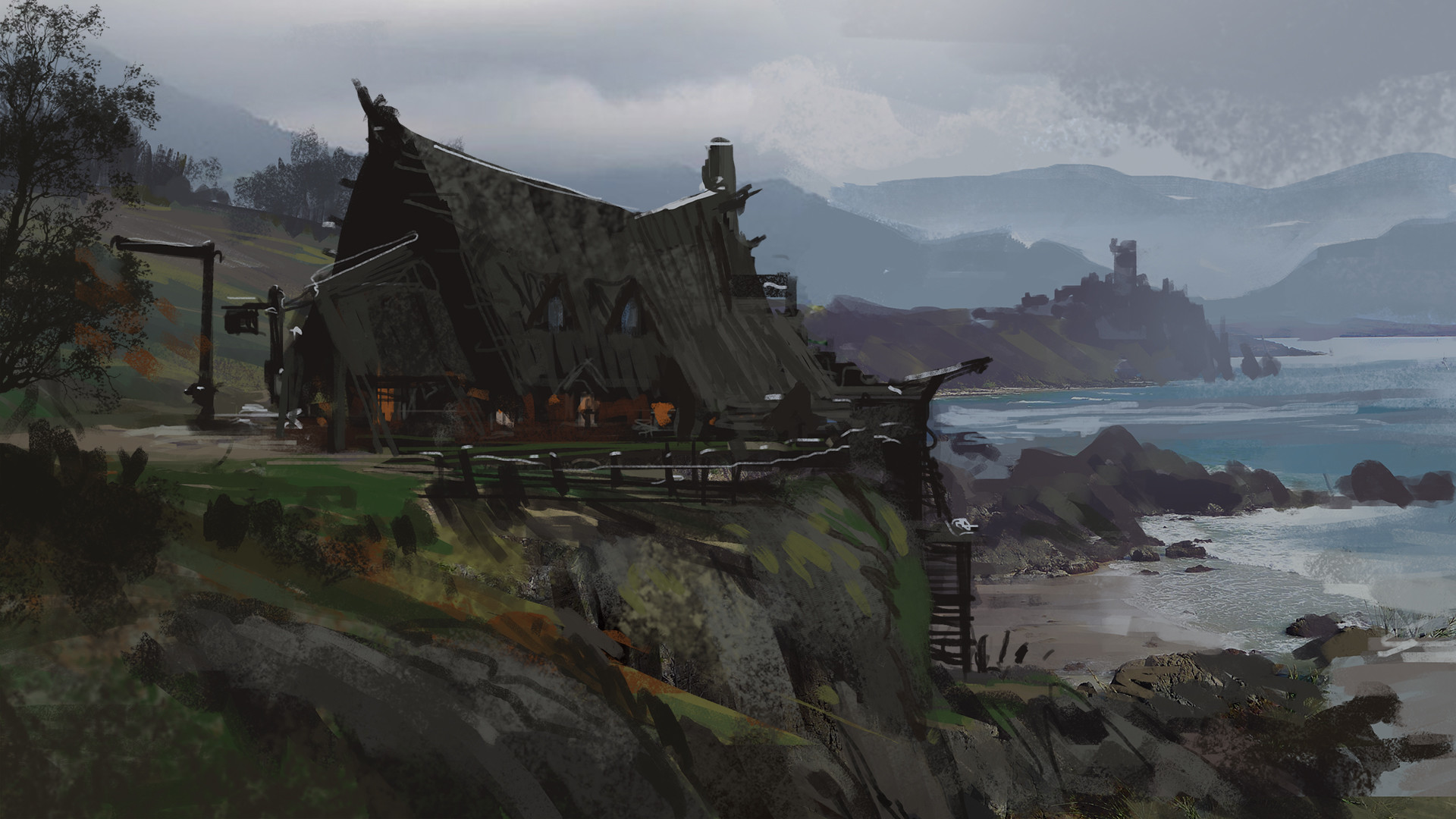 Klaus pillon bar outside dowport sketch 001