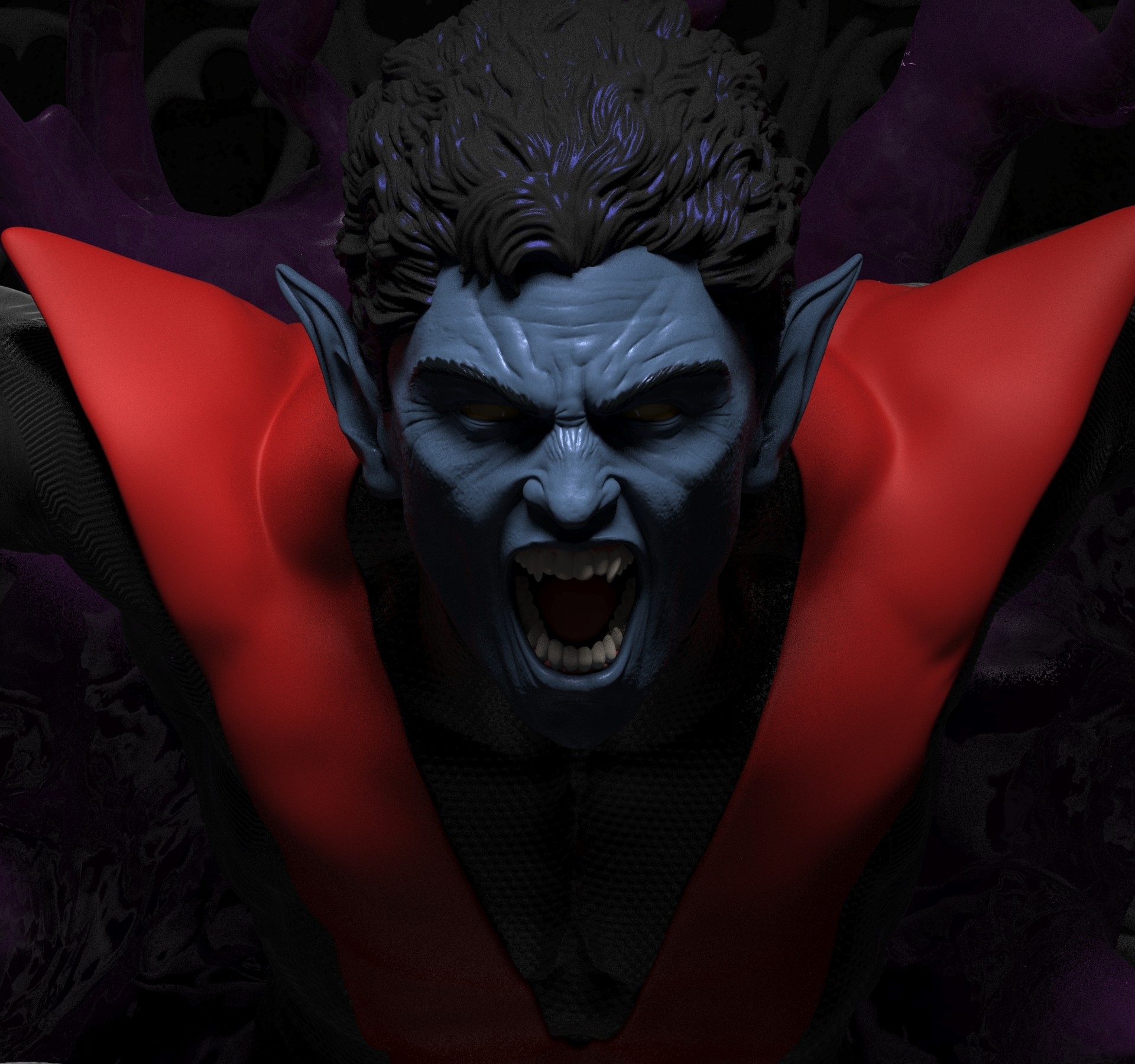Nightcrawler for 3D print 1/4