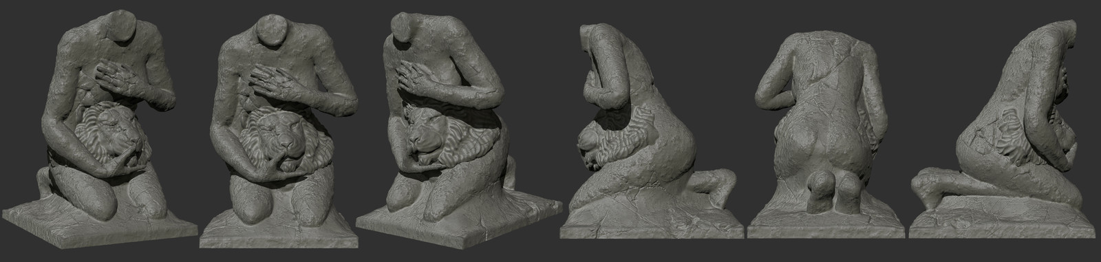 High Poly model in Zbrush