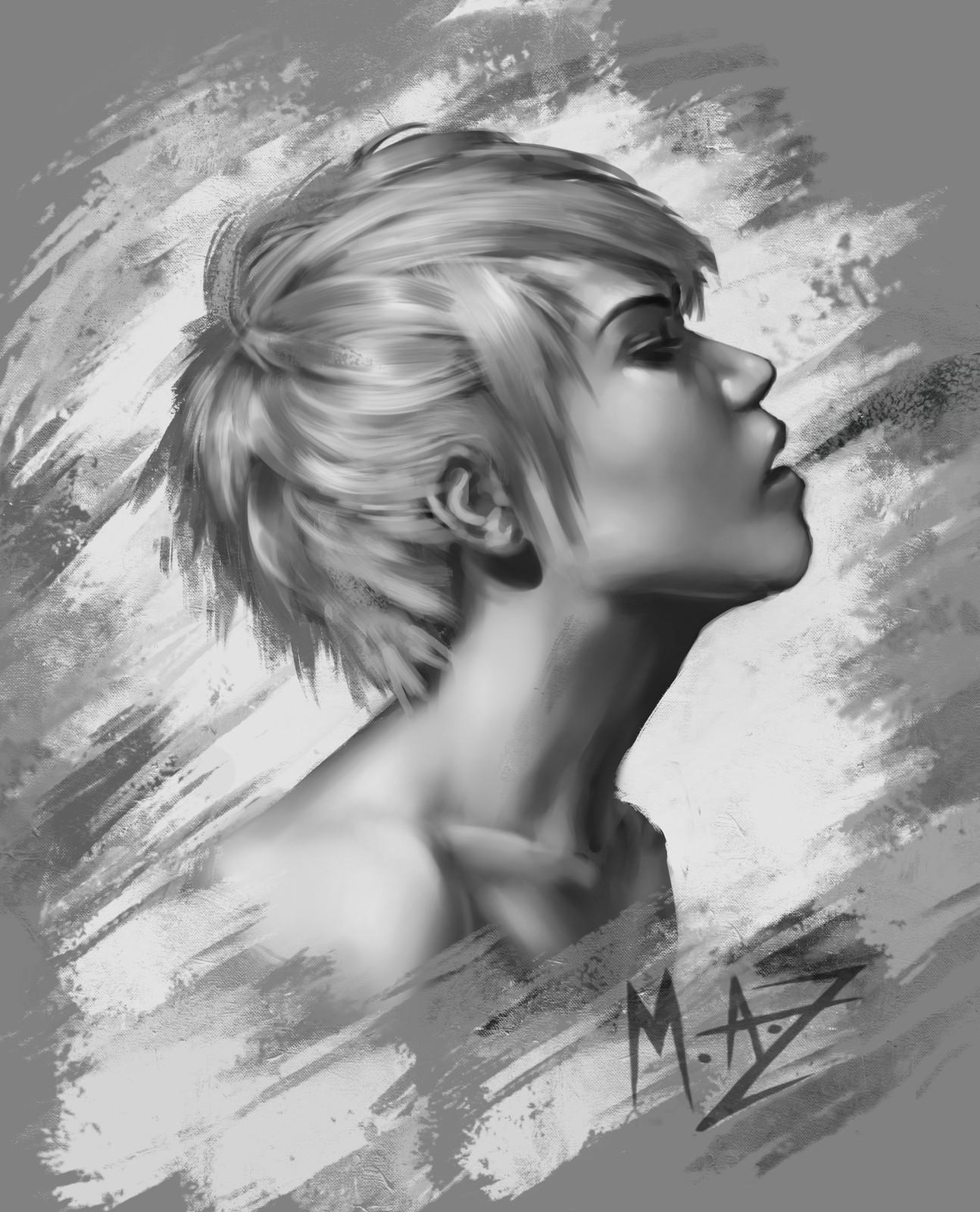 Sketch Head bust
