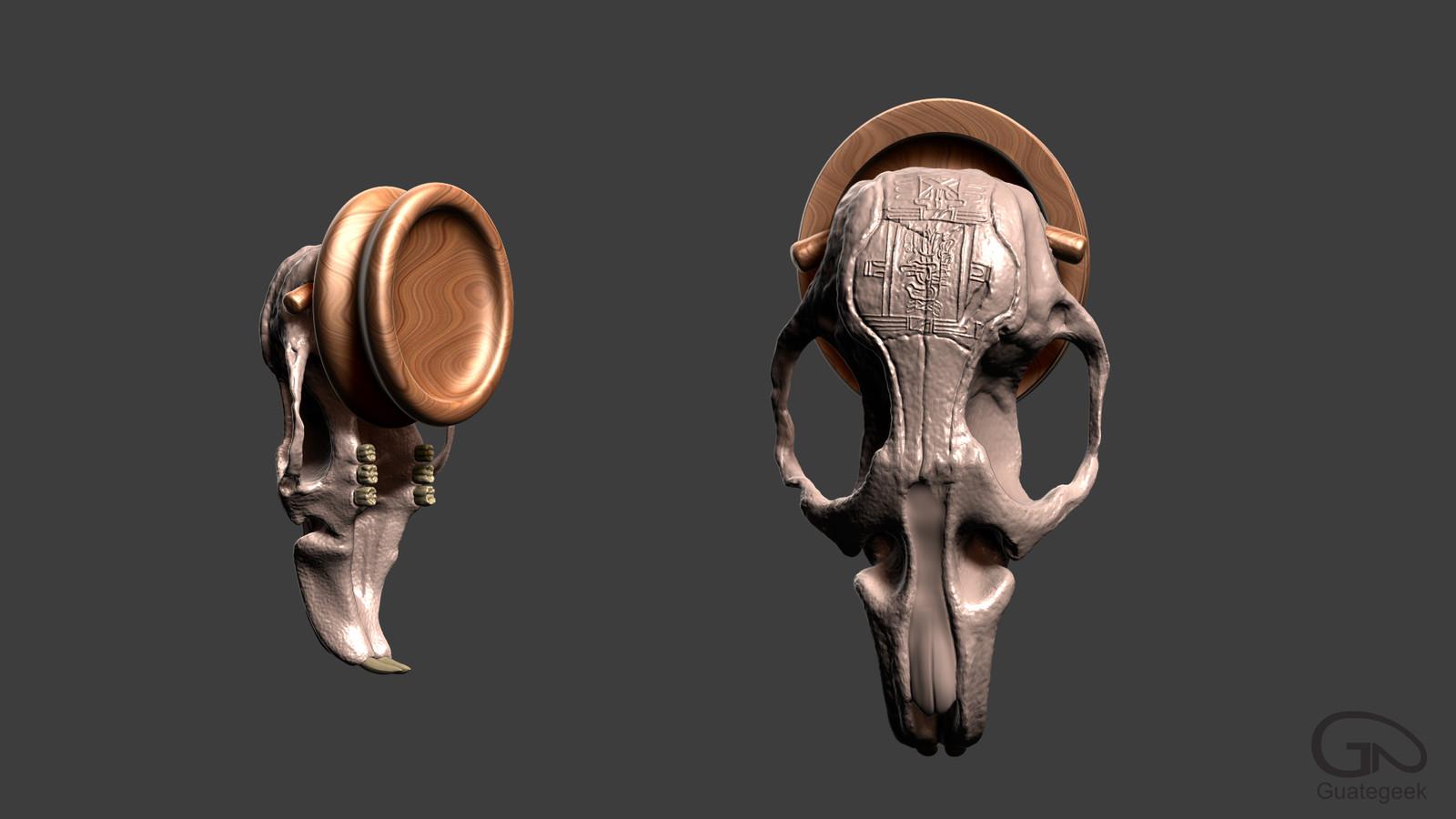 Rat Skull Earrings