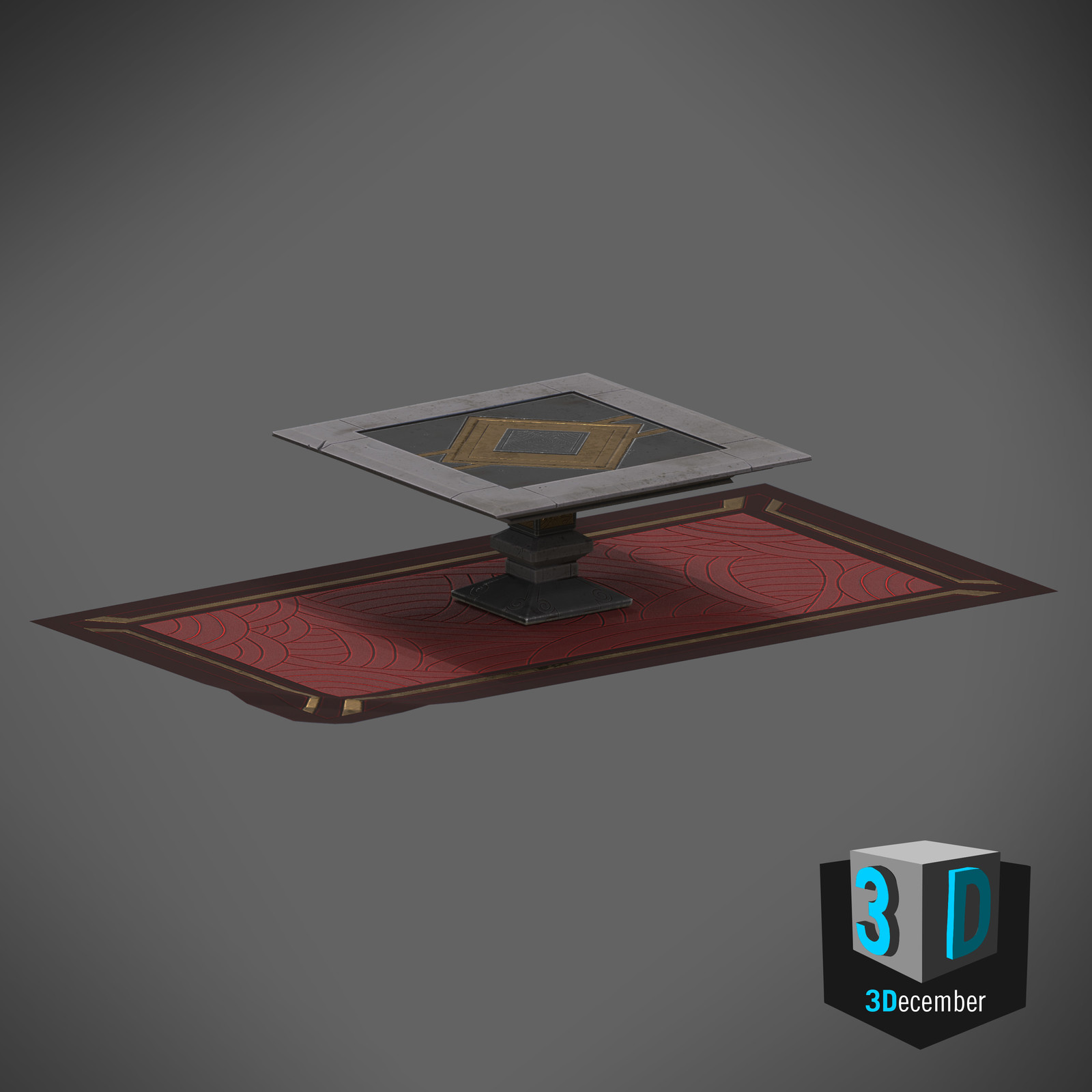 3December - Day 9 - Table and Rug