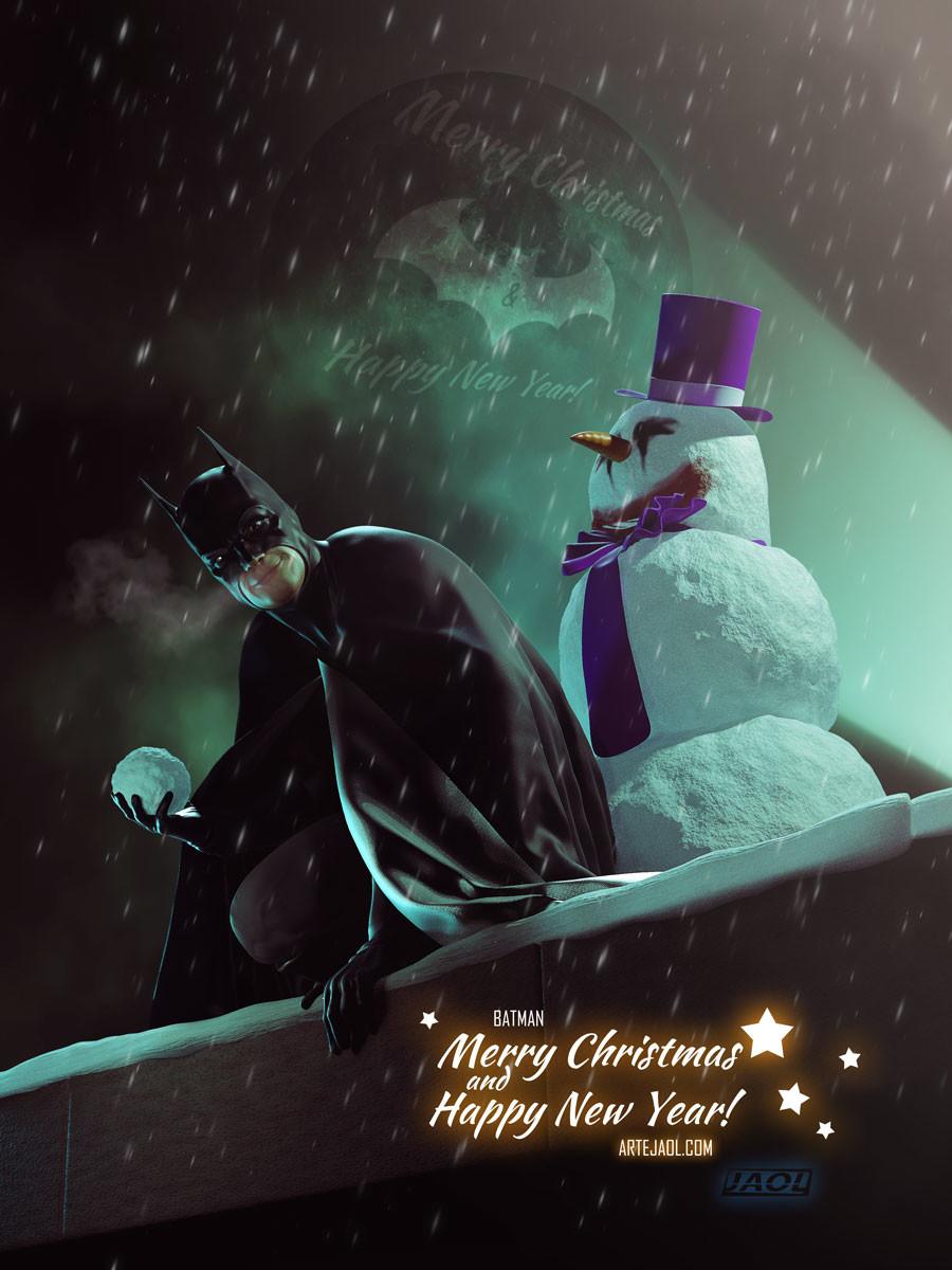 Batman Christmas.Artstation Batman On Christmas Jesus Olmos