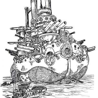Battleship, Inktober 2016, 24