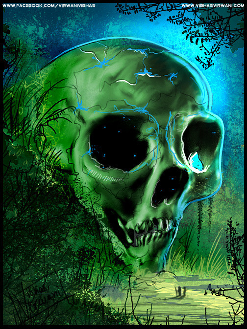 Vibhas virwani alien skull speed paint by vibhas virwani 1