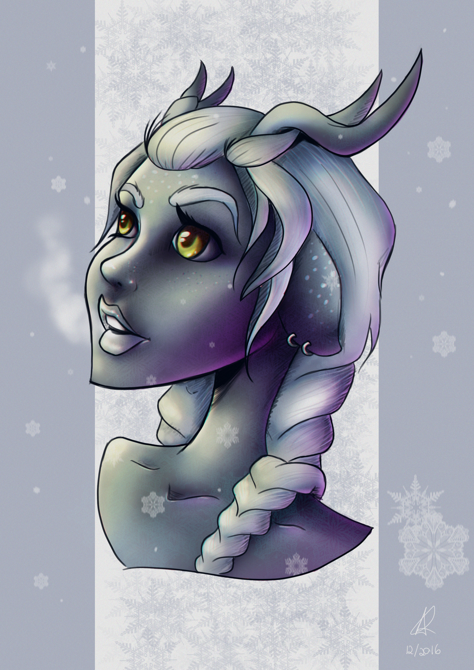 Digi nana winter deer girl