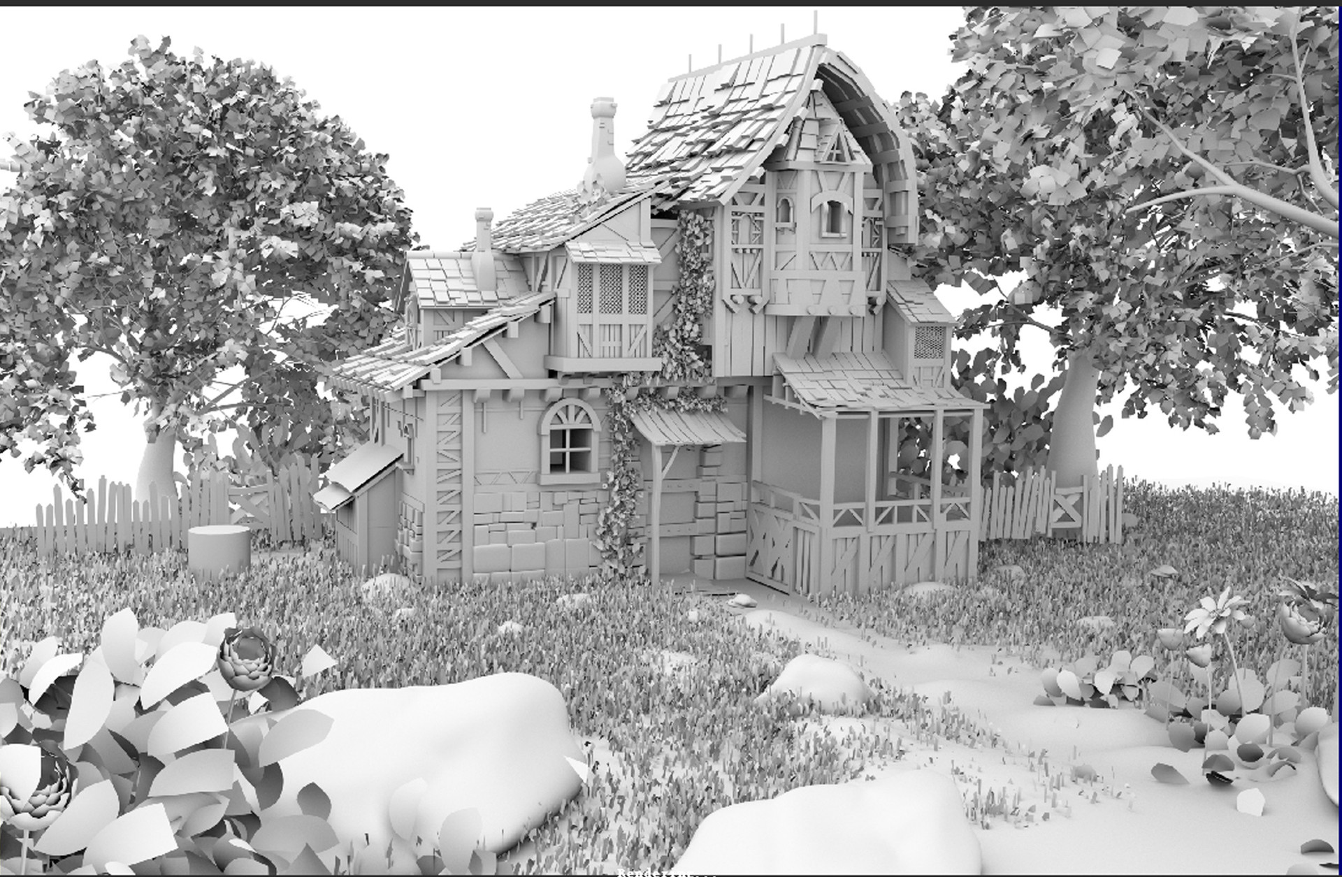 ArtStation - self practicing  3d environment modeling   Working in