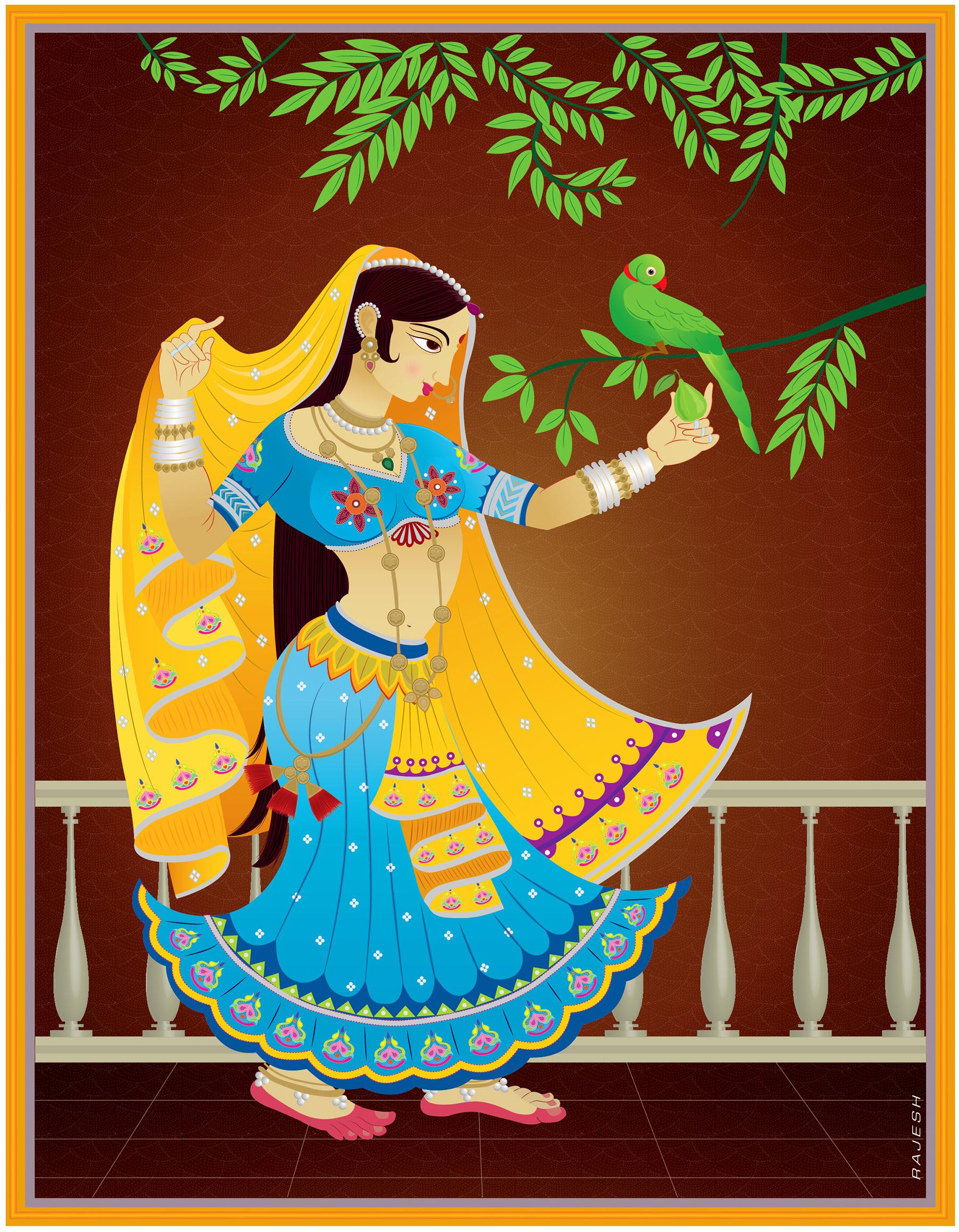Rajesh sawant indian painting friend 01
