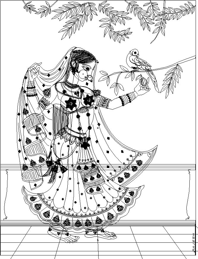 Rajesh sawant indian painting friend wireframe