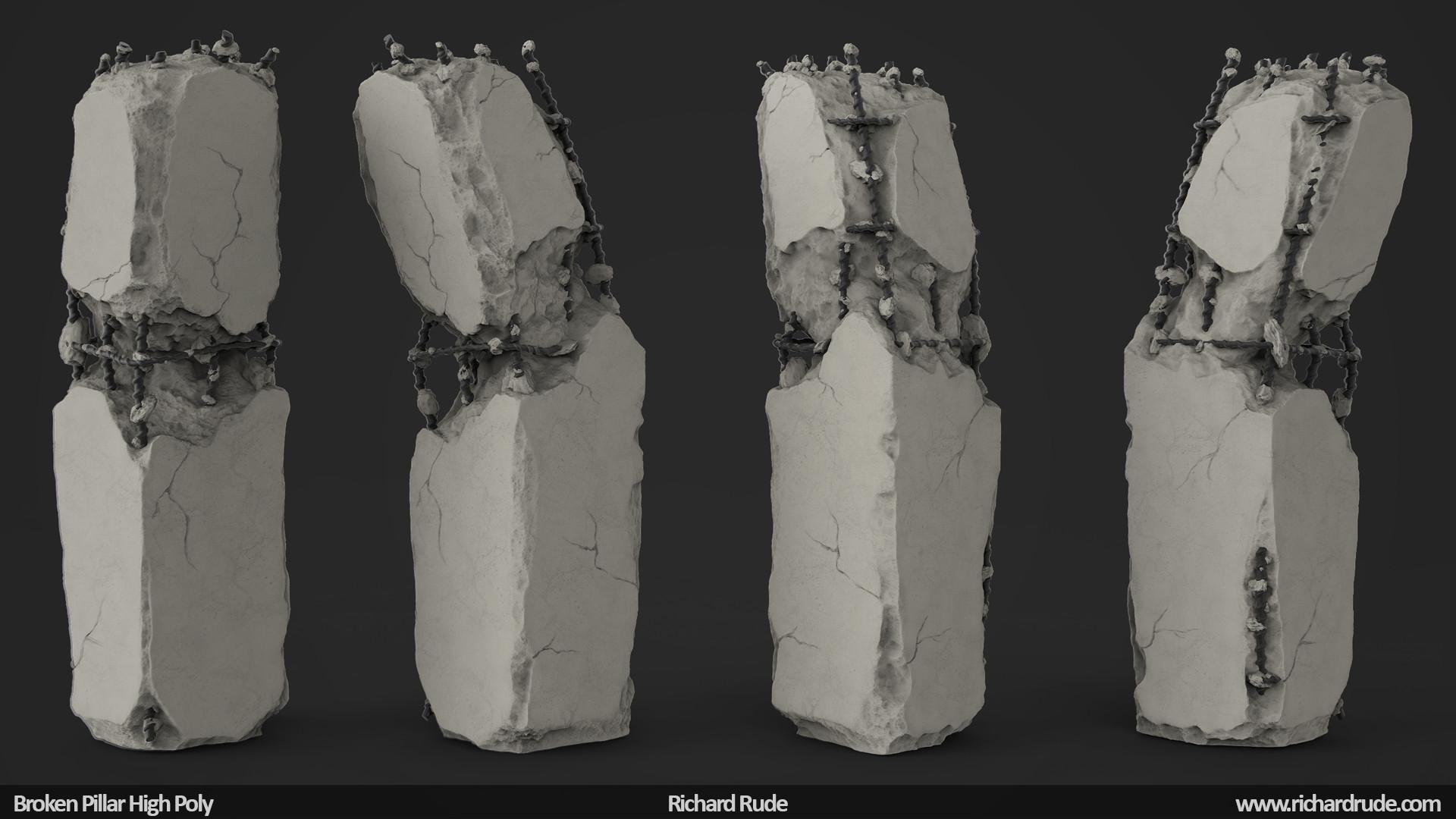 Broken Stone Pillar : Richard rude broken pillar