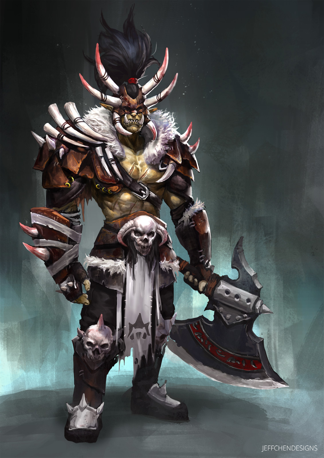 Orc Warrior Character Concept