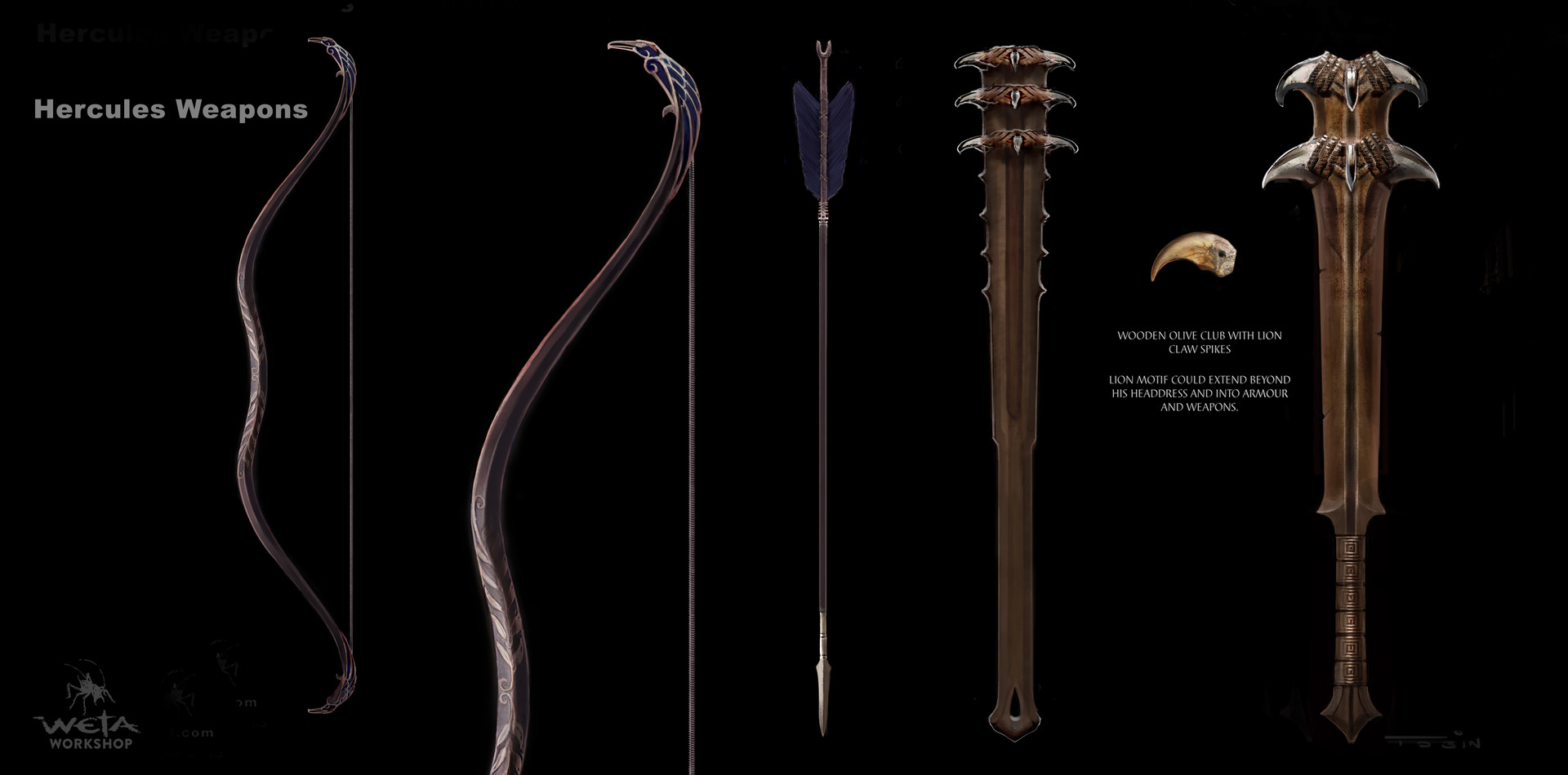 Weta workshop design studio weta workshop design studio hercules weapons