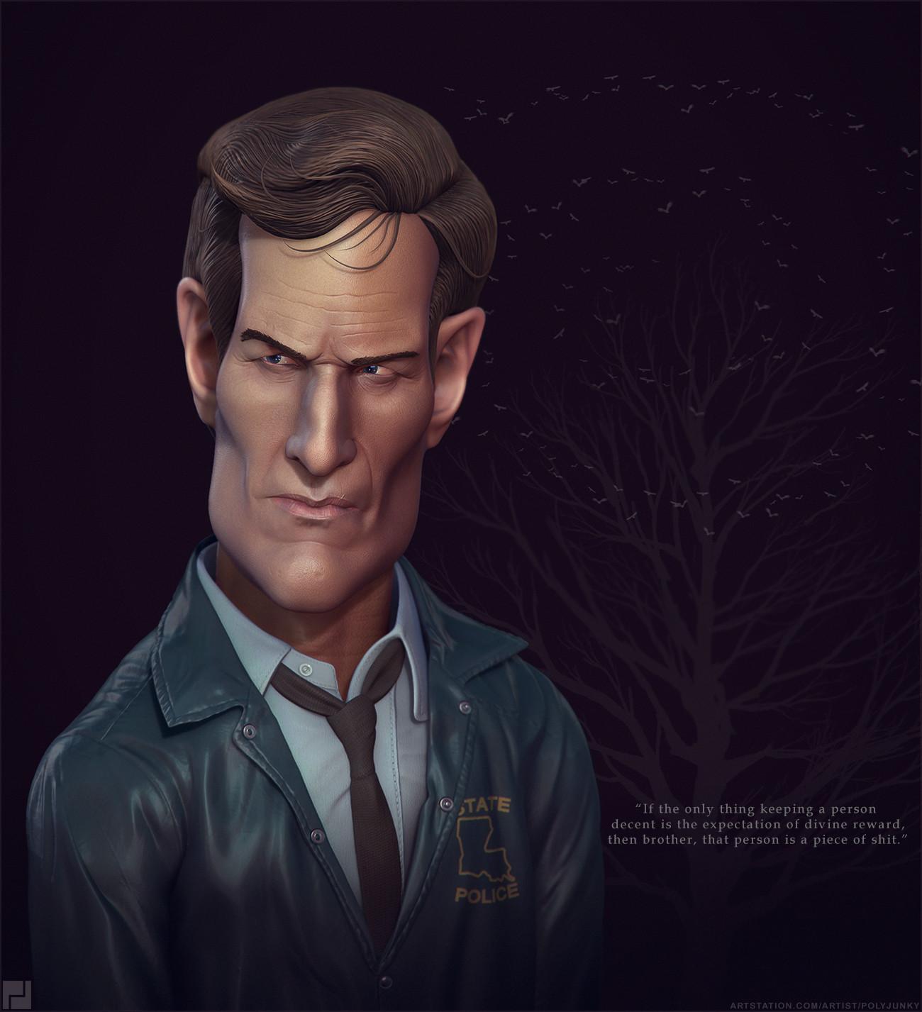 True Detective fan art Rust Cohle 2014