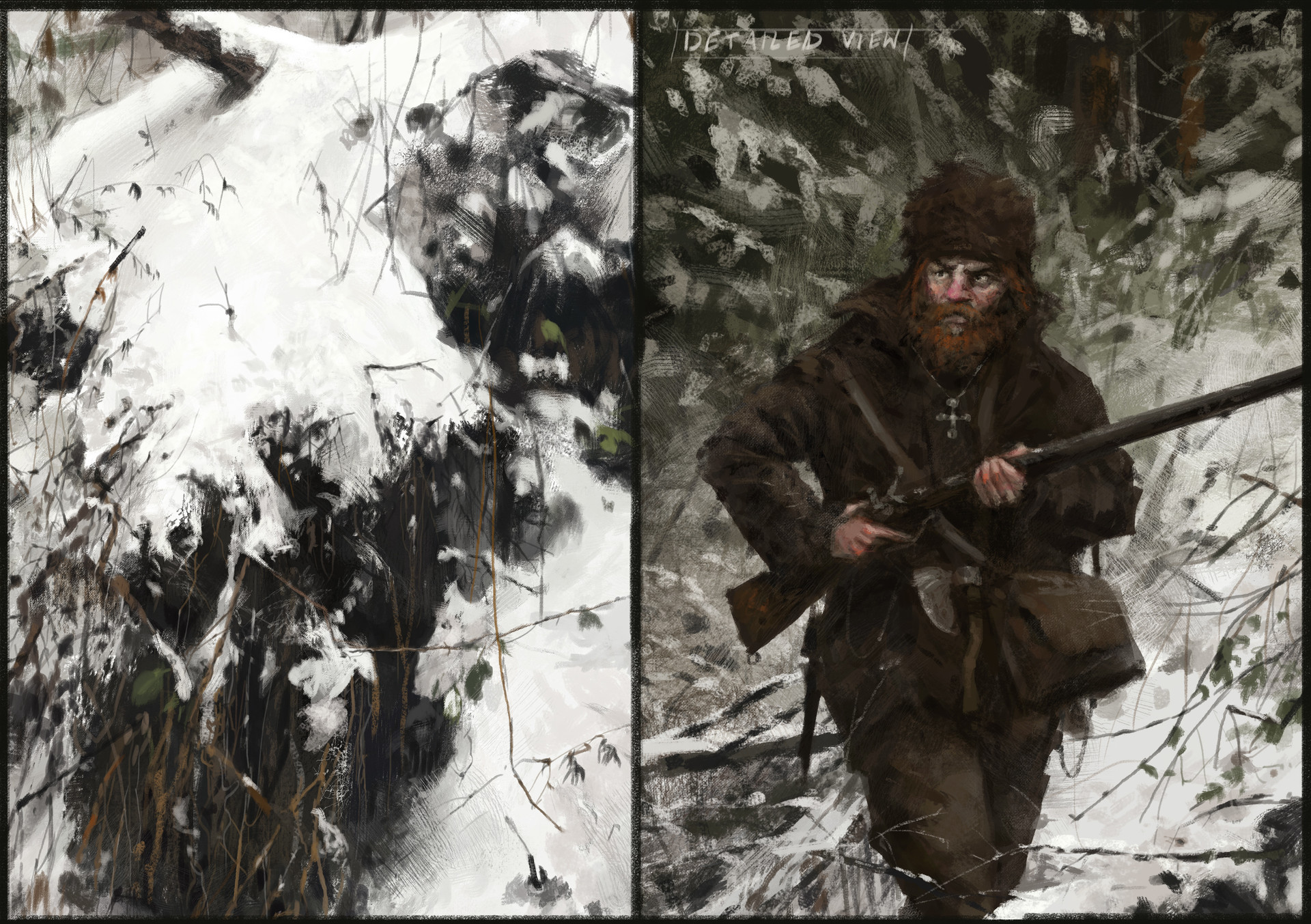 Jakub rozalski hunt or be hunted process06