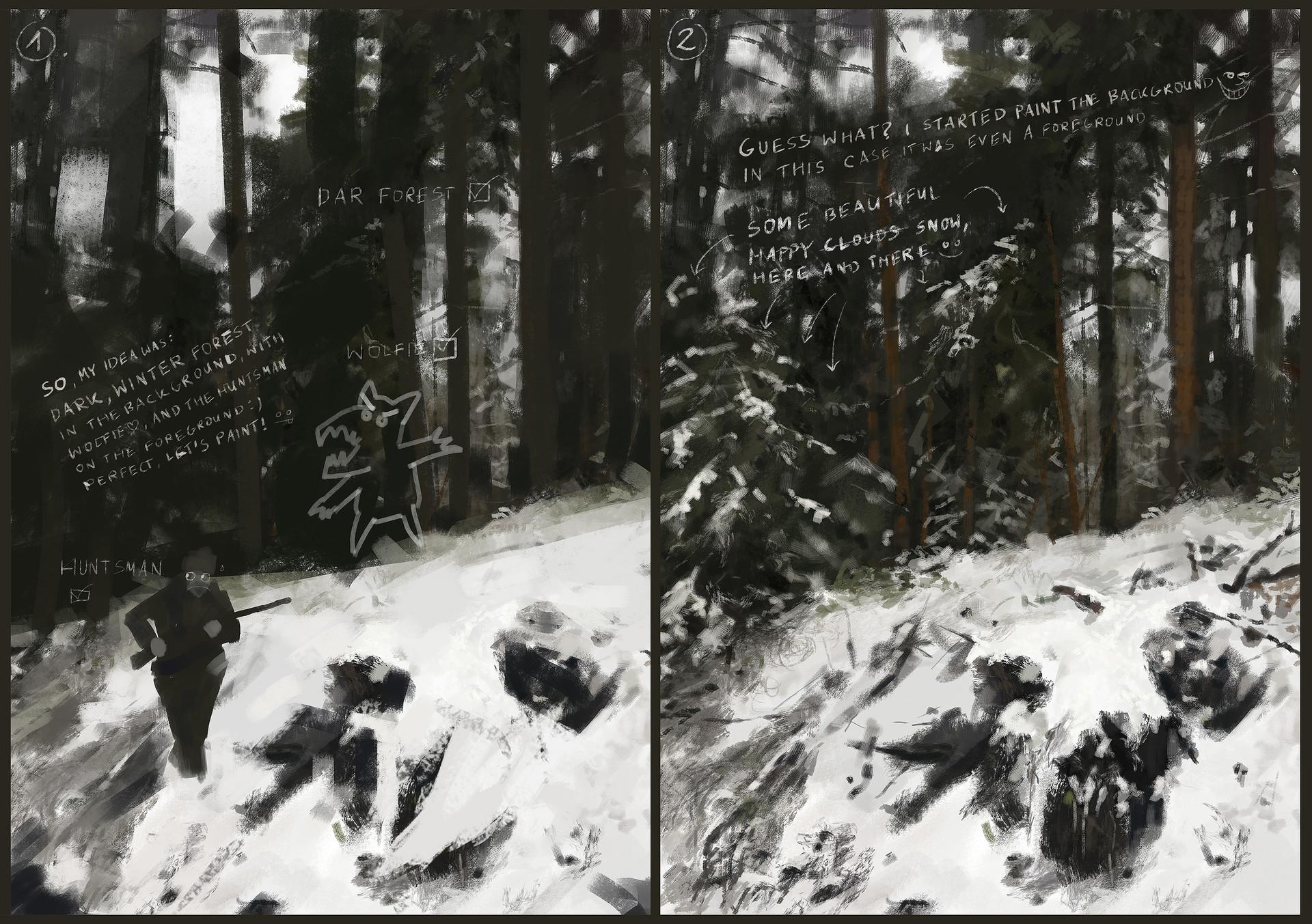 Jakub rozalski hunt or be hunted process01