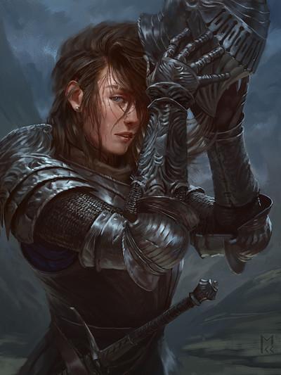 Manuel castanon knight girl high resolution