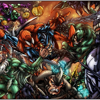 Maksim strelkov spiderman and sinister 7 by pant5