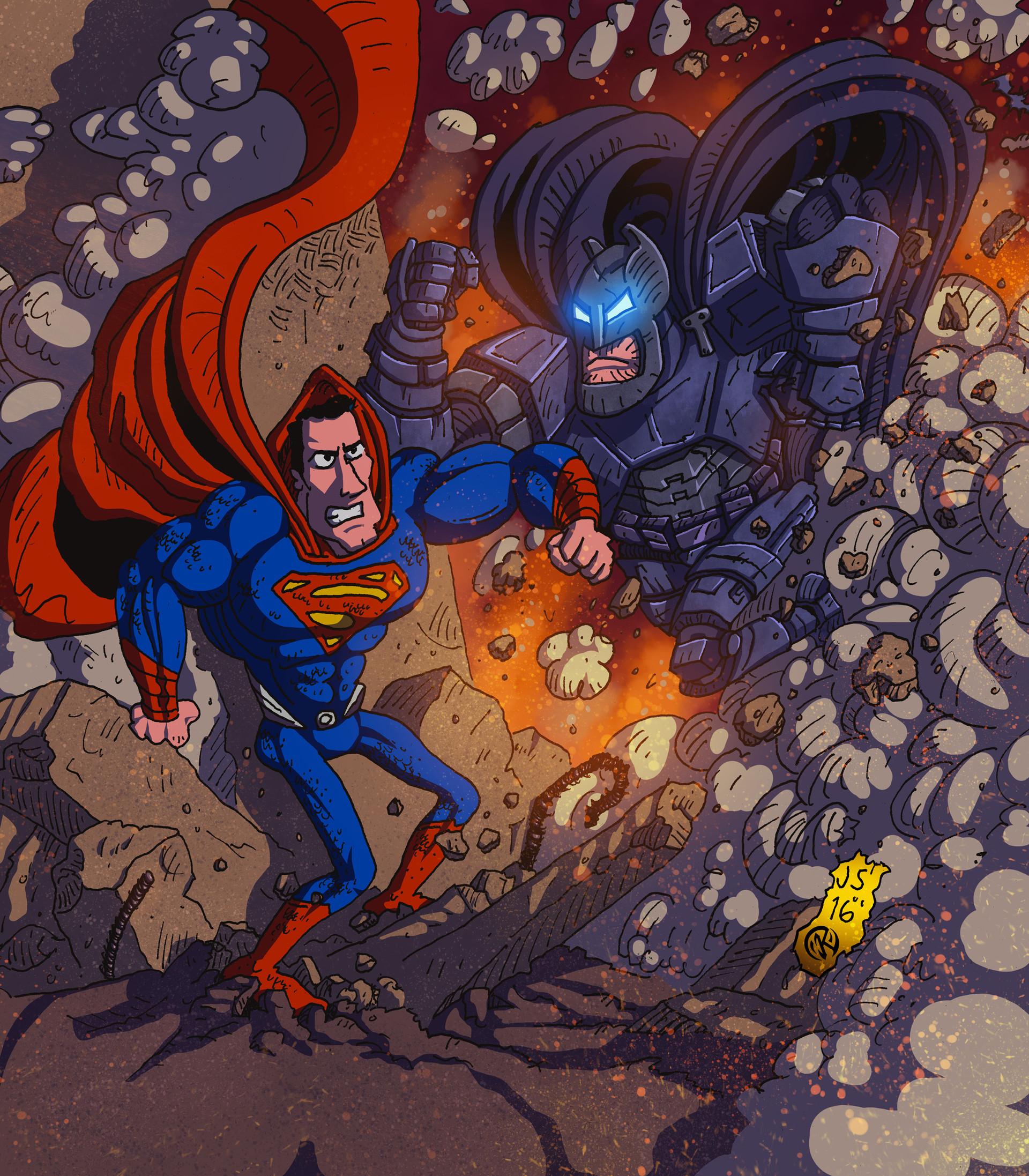 Maksim strelkov batman v superman bw by storhammar5
