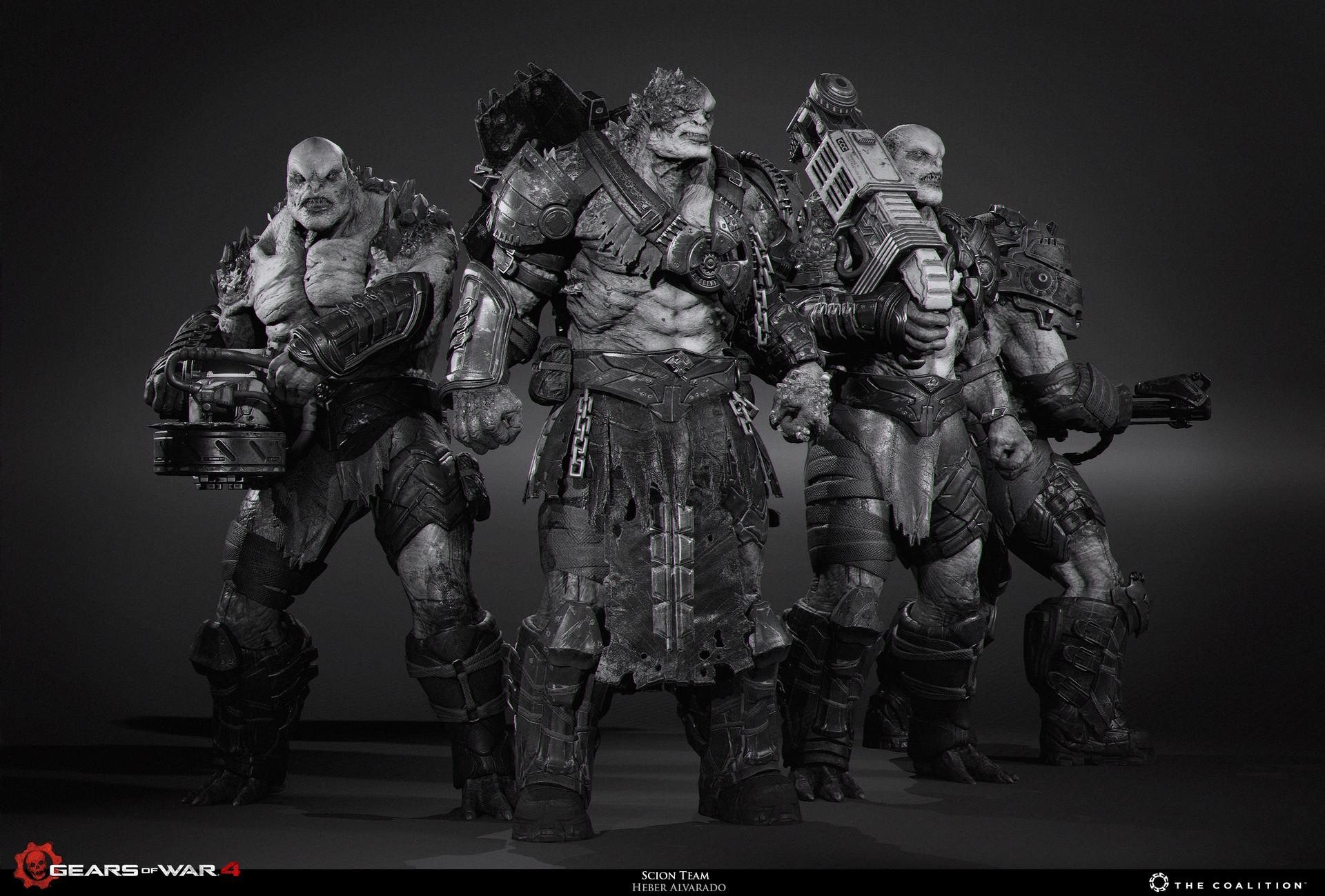 Heber Alvarado Gears Of War 4 Scions And Pouncer