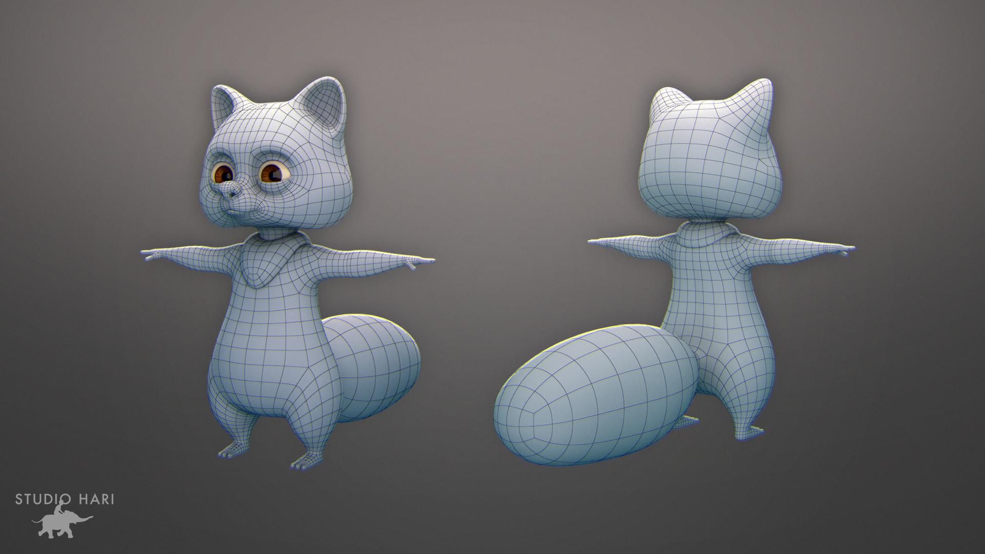 Tony Lebrun Grizzy & the Lemmings Little Raccoon Character
