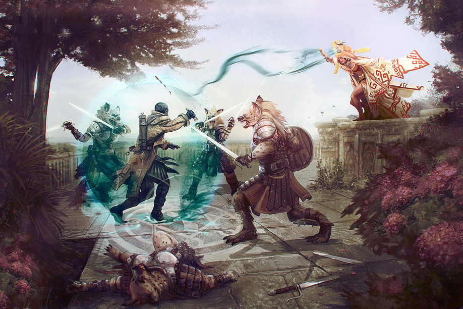 Mikael leger pzo90112 gnoll fight
