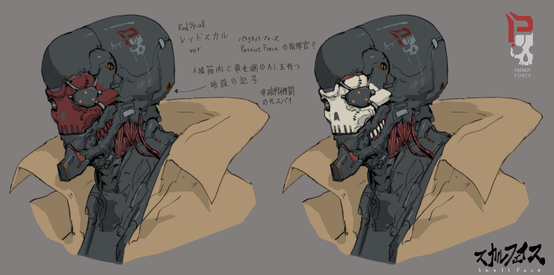 Ching yeh skull face