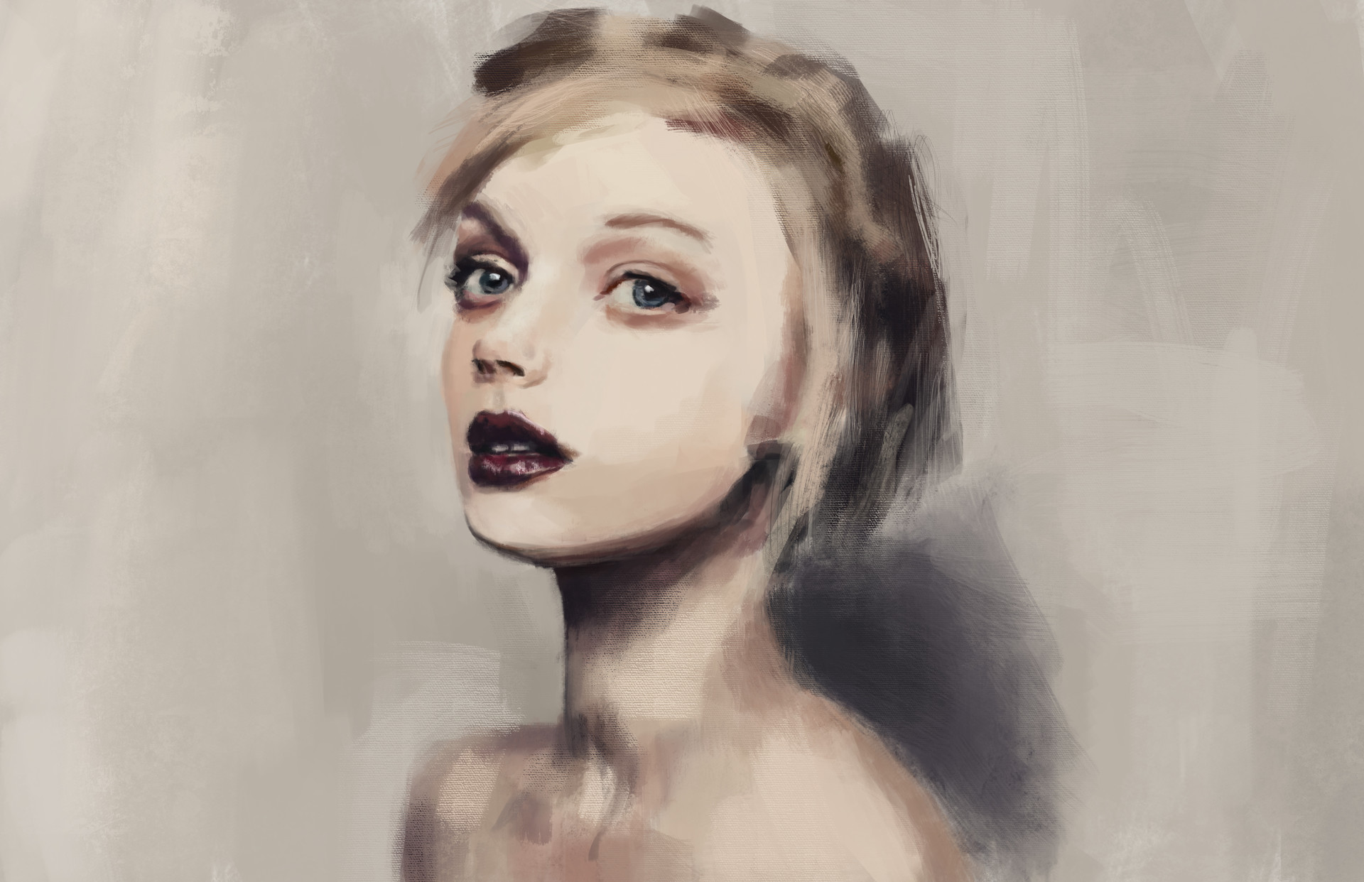 Sean Papile Short Blonde Hair Study