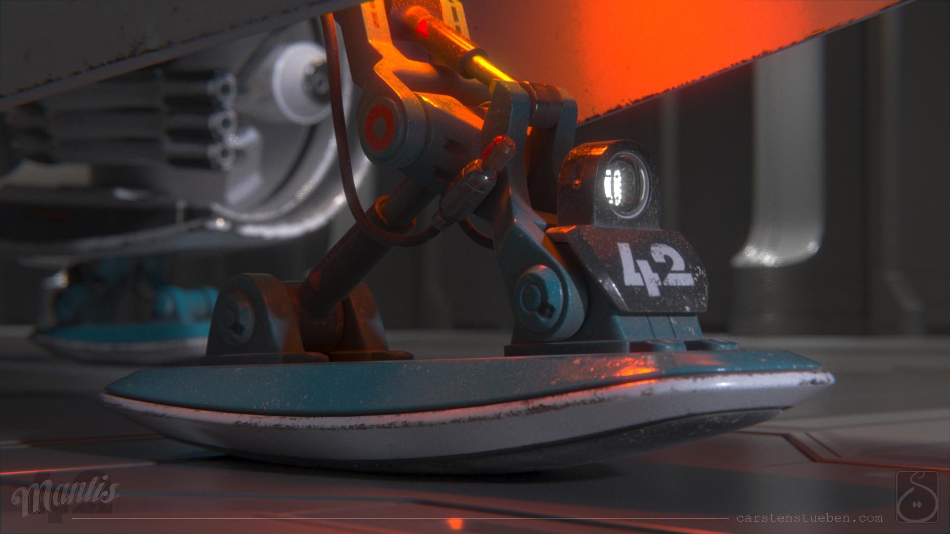Carsten stueben thrust mantis42 landing gear