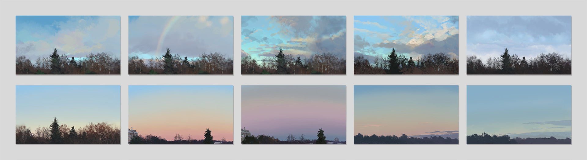November-December 2016 (Latter view is another view out of the window, just more towards east)