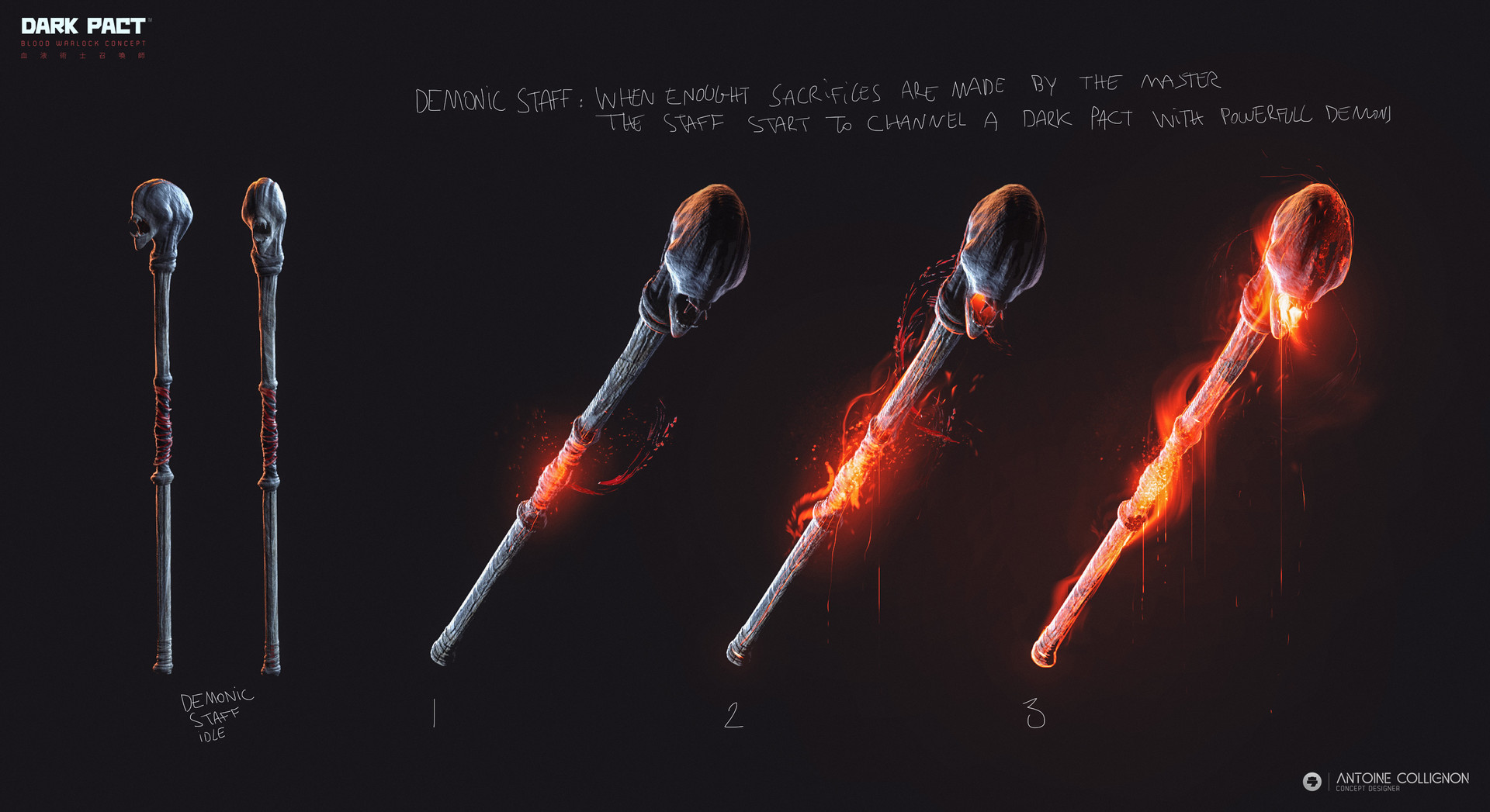 Antoine collignon dark pact characterdesign mmo bloodwarlock by antoine collignon 4