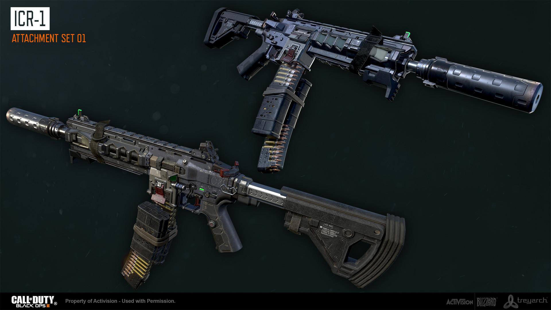 ArtStation - Black Ops 3: ICR-1 Assault Rifle, Ethan Hiley