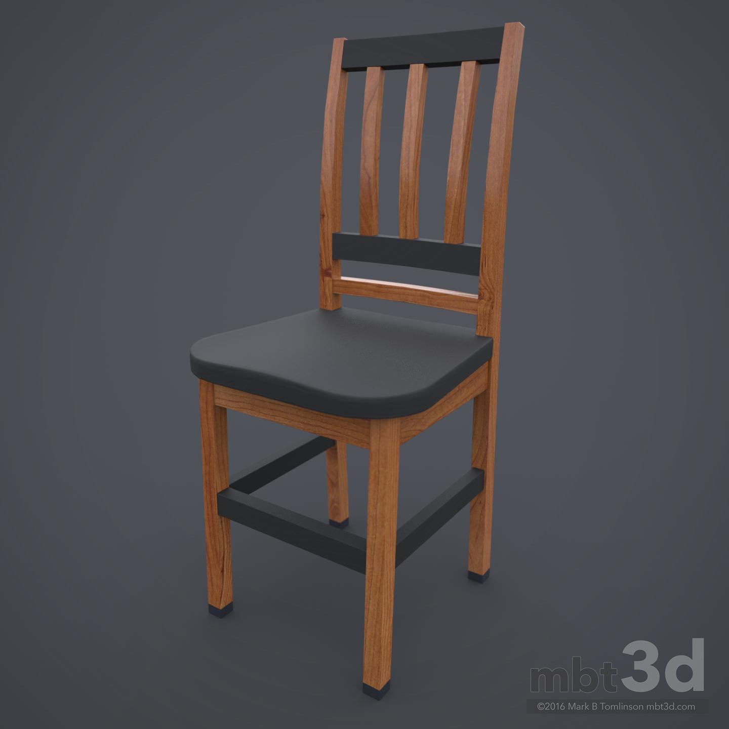 Wooden Chair Grey