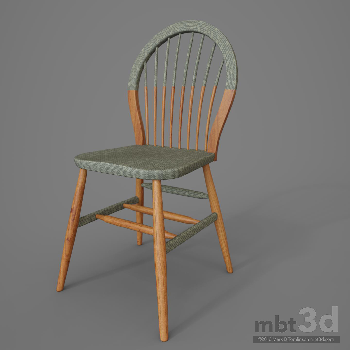 Round Back Wooden Chair