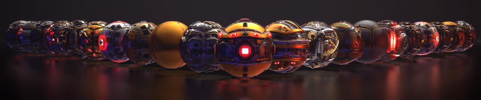 SciFi Texture Megapack Vol. 01 Marmoset renders